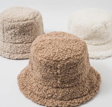 Sombrero De Piel Sintetica De Cordero