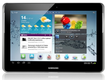 Samsung Galaxy Note 10.1 de frente