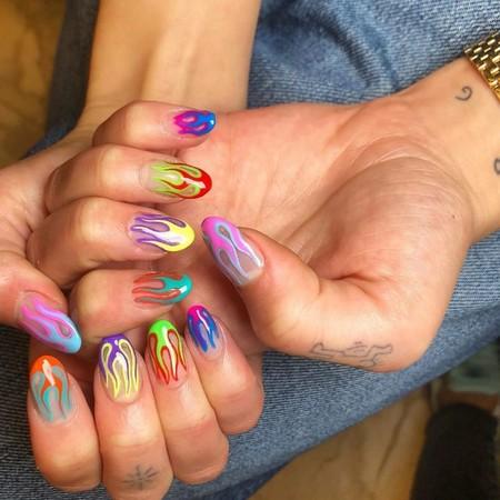 Dua Lipa Nail Art 01