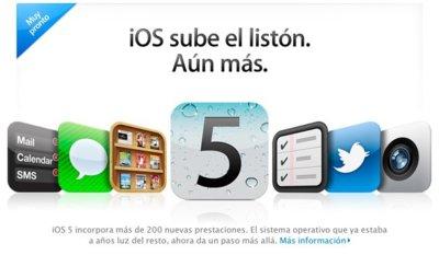 iOS 5 disponible de forma gratuita el próximo 12 de octubre