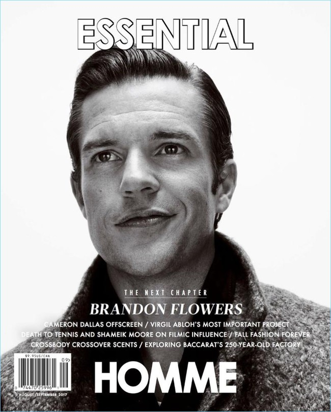Brandon Flowers 2017 Essential Homme Cover