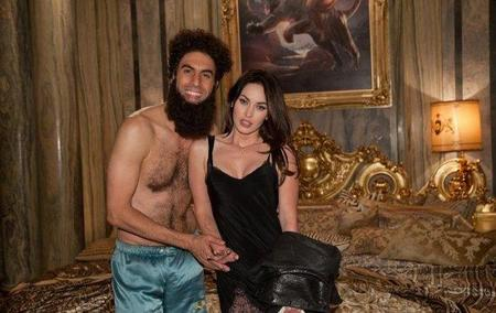 Aladeen con Megan Fox