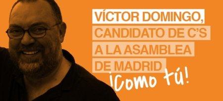 Víctor Domingo quiere llevar la voz de la Red a la Asamblea de Madrid