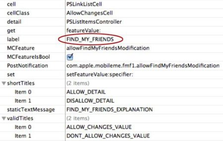 """Más descubrimientos en iOS 4.3: """"Buscar a mis amigos"""""""