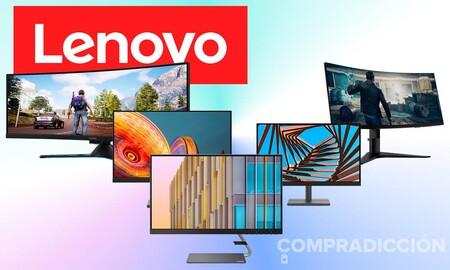 Semana de ofertas en monitores Lenovo: modelos para jugar y trabajar a precios superrebajados