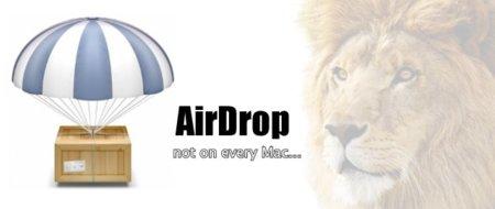 OS X Lion: AirDrop no está disponible en todos los Macs