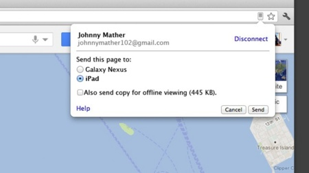 Cómo enviar páginas desde el Chrome de escritorio al de iOS