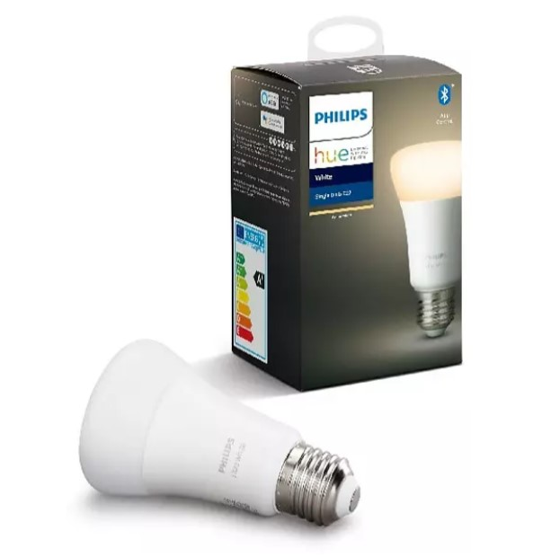 Bombilla Bluetooth - Philips Hue LED E27, Luz blanca cálida, Domótica | Pack de tres