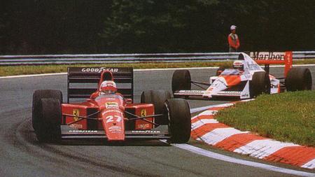 Nigel Mansell Alain Prost Hungaroring 1989