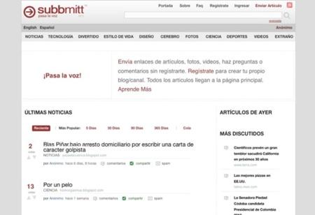 Subbmitt, alternativo sistema de promoción social de noticias