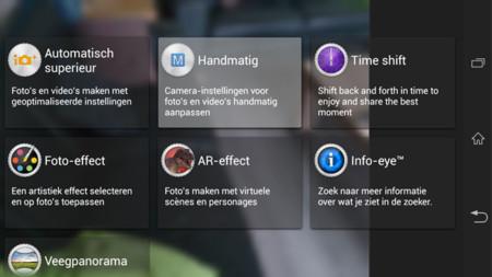 Se llevan la interfaz y aplicación de la cámara del Honami al Sony Xperia Z