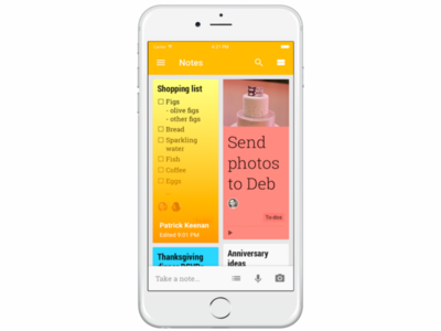 Google Keep llega (con retraso) al 3D Touch