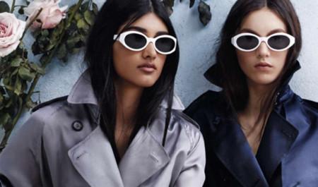 Consigue unas gafas de sol blancas al estilo Burberry Prorsum