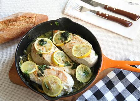 Pechugas De Pollo Con Limon Y Hierbas