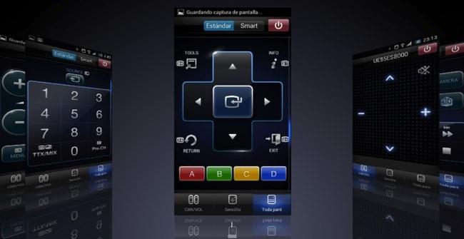 Algunas de las pantallas de la aplicación Samsung Smart view