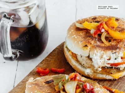 Hamburguesas de champiñones y queso Feta. Receta fácil y saludable