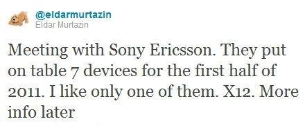 Sony Ericsson Anzu/X12 aparece en escena