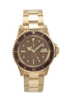 Yellow Gold Light Brown Dial Submariner Ref 1680