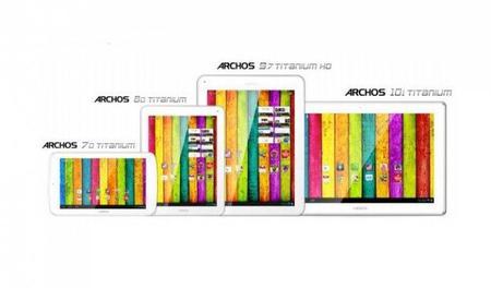 Archos lanza su línea de tablets Titanium