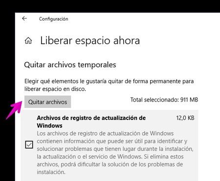 Liberar Espacio Ahora Windows 10