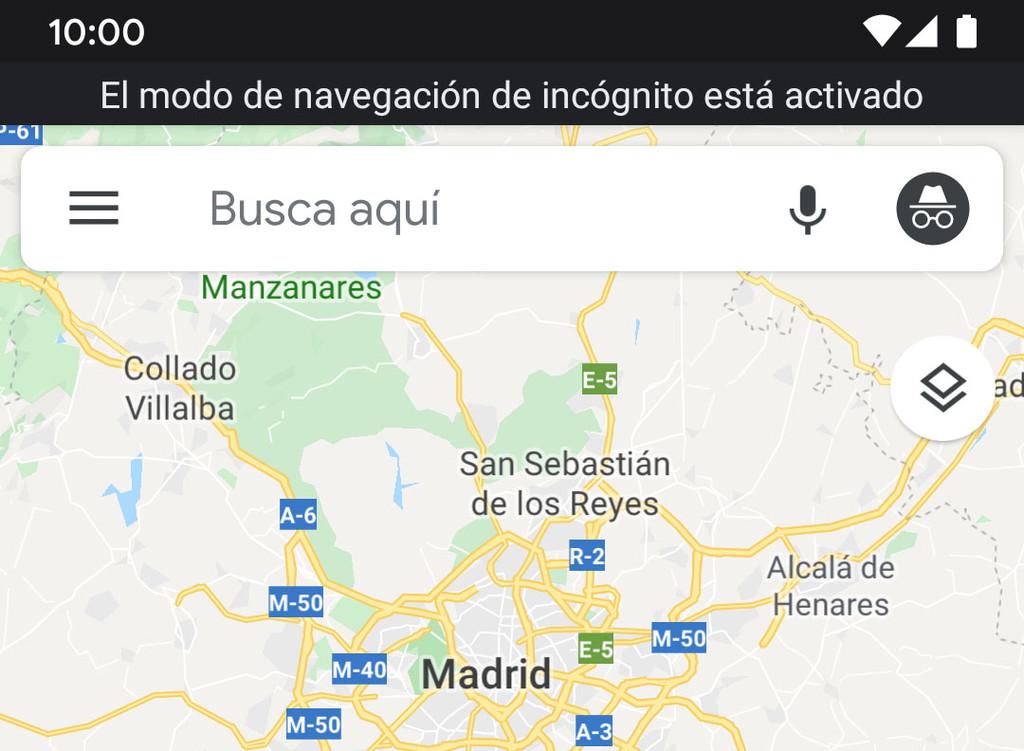 Zum aktivieren des inkognito-modus von Google Maps für Android