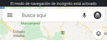 How to activate incognito mode in Google Maps for Android