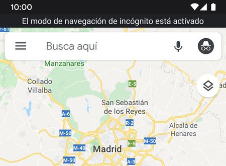 Cómo activar el modo incógnito de Google Maps para Android