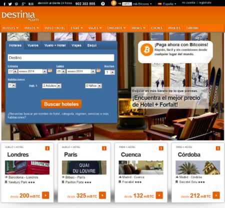 Destinia empezará a aceptar bitcoins en su web a partir de hoy mismo