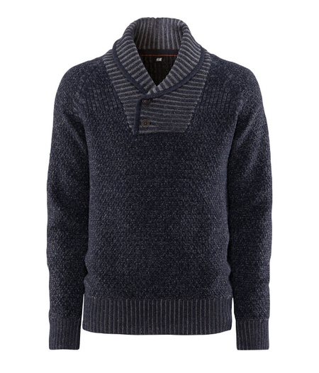 Jersey cuello esmoquin H&M Holiday fashion