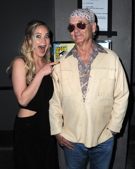 Jennifer Lawrence y Bill Murray