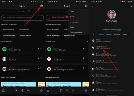Cambiar Voz Google Assistant