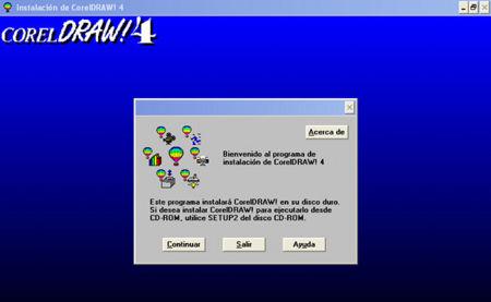 Instalador de CorelDraw 4