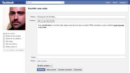 Facebook añade nuevas herramientas para las notas
