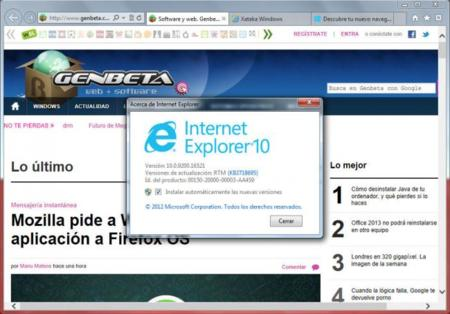 Internet Explorer 10 ya disponible para Windows 7