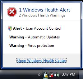 Notificacion del Centro de Salud