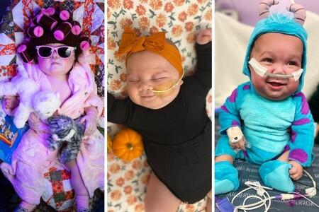 Los adorables disfraces de Halloween de unos bebés recién nacidos ingresados en la UCI