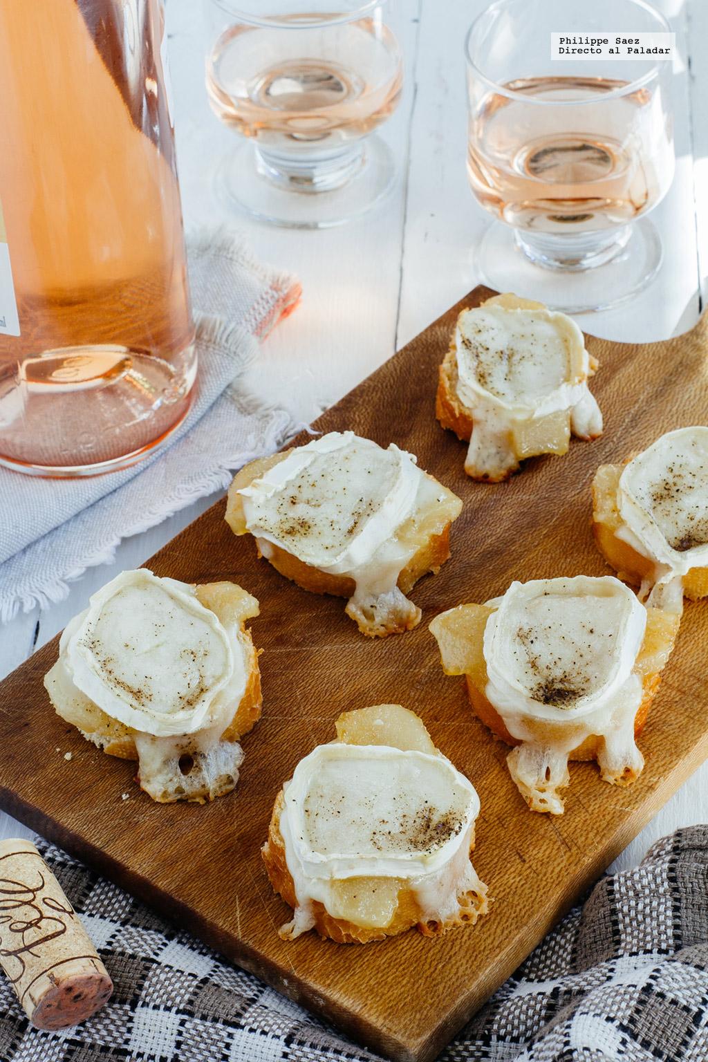 Canap s de peras caramelizadas y queso de cabra receta de - Queso de cabra y colesterol ...