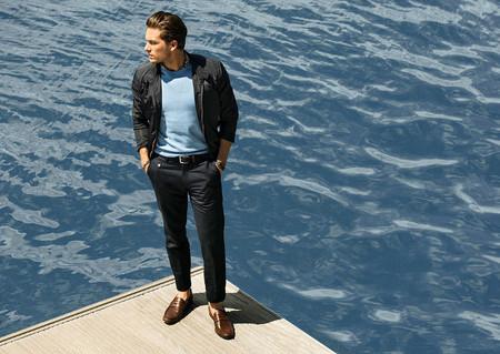 Total look azul Massimo Dutti 2013