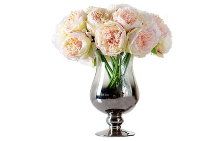 Zumuii Ramo Con 5 Flores Artificiales Peonias