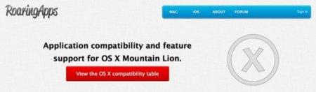 Roaring Apps se actualiza ofreciendo un listado de aplicaciones compatibles con Mountain Lion