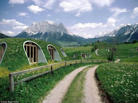 Green Magic Homes vende casas prefabricadas que podemos enterrar, al estilo Hobbiton