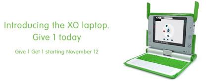 OLPC Give 1 Get 1, plazo ampliado hasta navidades