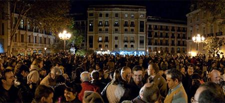 Manifiesto frente al Ministerio de Cultura