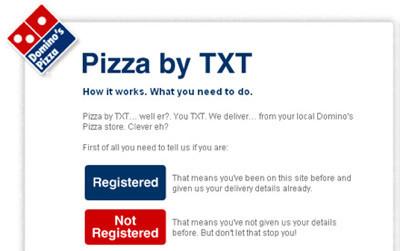 Pide pizzas con un SMS