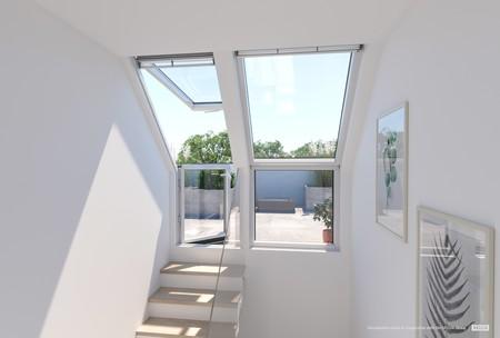 Antes y después: una interesante solución de acceso de terraza a cubierta
