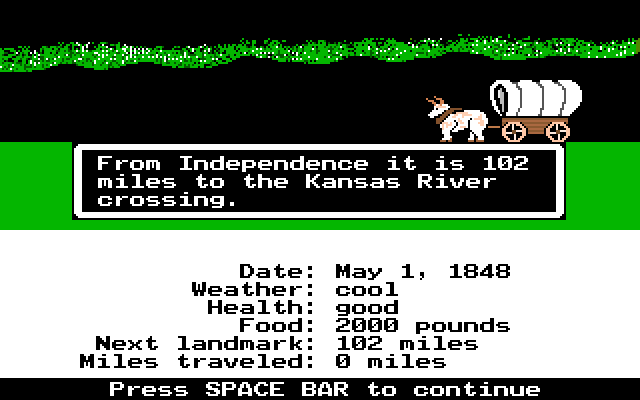 The Oregon Trail (Broderbund, 1974)