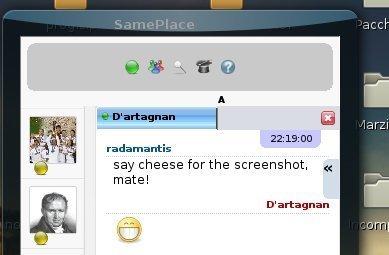 Same Place, mensajería en el navegador