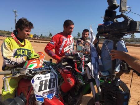 Brad Baker Nico Terol Ivan Romero Flat Track Valencia 2016