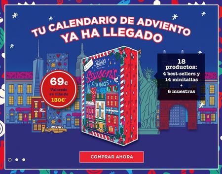 Calendario de adviento de Kiehl's valorado en 130 euros por sólo 69 euros
