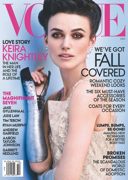 Keira Knightley posa totalmente 'karenizada' en la portada de Vogue, ¡qué elgancia por Dior!